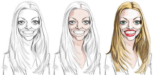 caricature Amanda Seyfried
