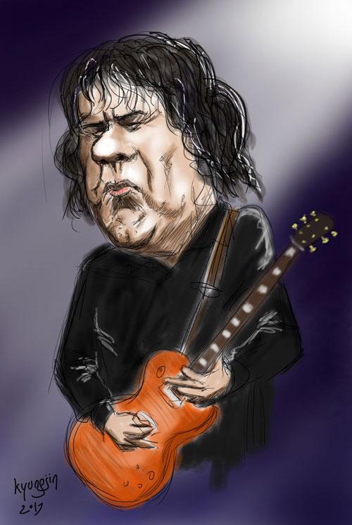 Gary Moore caricature