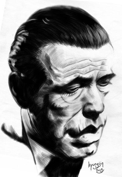 Humphrey Bogart caricature