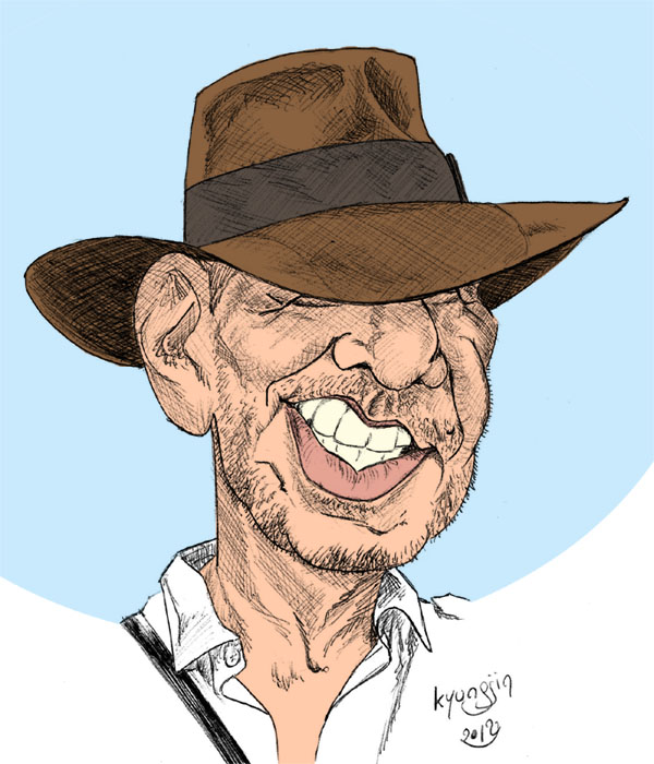 Harrison Ford Indiana jones caricature