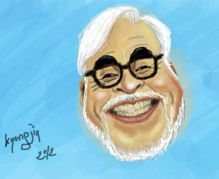 Miyazaki caricature