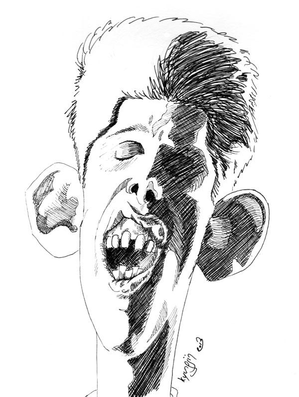caricature Shane MacGowan feutre