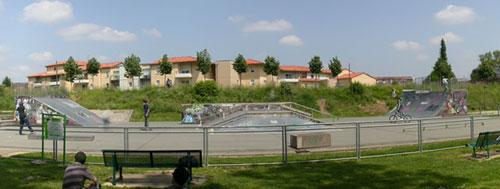 panoramique du skatepark de Périgueux