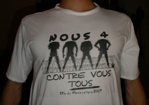 t-shirt nous 4 contre vous tous